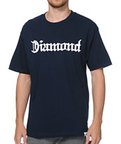 Diamond Supply Co Diamond4Life Navy Tee Shirt