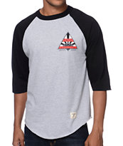 Diamond Supply Co Eternal Raglan Black & Grey Baseball Shirt