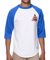 Diamond Supply Co Eternal Raglan Navy & White Baseball Shirt