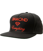 Diamond Supply Co Everything Black & Red Snapback Hat