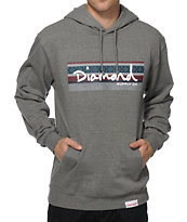 Diamond Supply Co Fairisle Box Logo Grey Hoodie