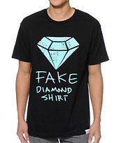 Diamond Supply Co Fake Diamond Black Tee Shirt