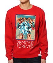 Diamond Supply Co Forever Red Crew Neck Sweatshirt