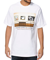 Diamond Supply Co Gallery White Tee Shirt