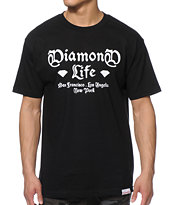 Diamond Supply Co Gang Black Tee Shirt