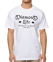 Diamond Supply Co Gang White Tee Shirt