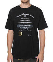 Diamond Supply Co Gem Institute Black Tee Shirt