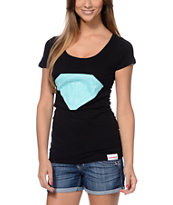 Diamond Supply Co Girls Big Brilliant Scoop Black Tee Shirt