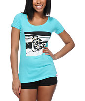 Diamond Supply Co Girls Brilliant Glass Turquoise Tee Shirt
