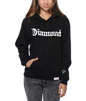 Diamond Supply Co Girls Diamond 4 Life Black Pullover Hoodie