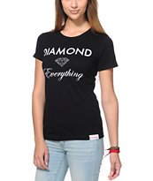 Diamond Supply Co Girls Diamond Everything Black Tee Shirt