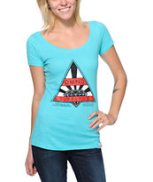 Diamond Supply Co Girls Eternal Turquoise Scoop Neck Tee Shirt