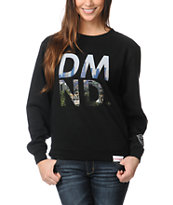 Diamond Supply Co Girls LA DMND Black Crew Neck Sweatshirt