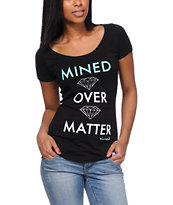 Diamond Supply Co Girls Mined Over Matter Black Tee Shirt
