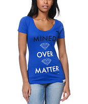 Diamond Supply Co Girls Mined Over Matter Blue Tee Shirt