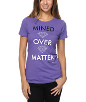 Diamond Supply Co Girls Mined Over Matter Purple Tee Shirt