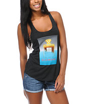 Diamond Supply Co Girls No. 1 Charcoal Tank Top