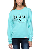 Diamond Supply Co Girls Paris Tiffany Blue Crew Neck Sweatshirt