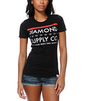 Diamond Supply Co Girls Roots Black Tee Shirt