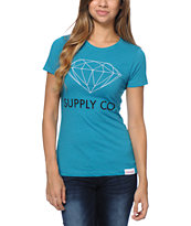 Diamond Supply Co Girls Supply Co Teal Tee Shirt