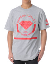 Diamond Supply Co I Shine You Shine Heather Grey Tee Shirt