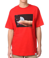 Diamond Supply Co Imprint Red Tee Shirt