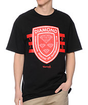 Diamond Supply Co International Skateboarding Black Tee Shirt