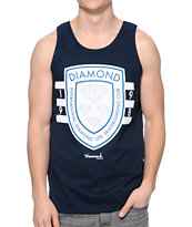 Diamond Supply Co International Skateboarding Navy Tank Top