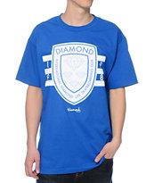 Diamond Supply Co International Skateboarding Royal Blue T-Shirt