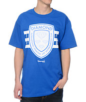 Diamond Supply Co International Skateboarding Royal Blue Tee Shirt