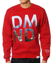 Diamond Supply Co LA Red Crew Neck Sweatshirt
