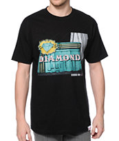 Diamond Supply Co Neon Black Tee Shirt