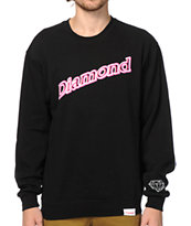 Diamond Supply Co Neon Script Crew Neck Sweatshirt