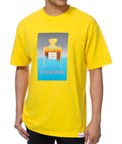 Diamond Supply Co No.1 DMND Yellow Tee Shirt