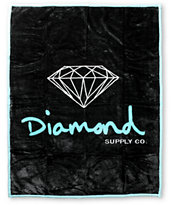 Diamond Supply Co OG Black & Teal Blanket