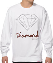 Diamond Supply Co OG Brilliant White Crewneck Sweatshirt
