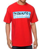 Diamond Supply Co OG Palms Red Tee Shirt