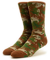 Diamond Supply Co OG Script Camo Crew Socks