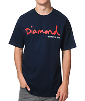 Diamond Supply Co OG Script Navy T-Shirt