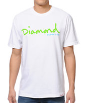 Diamond Supply Co OG Script White Tee Shirt