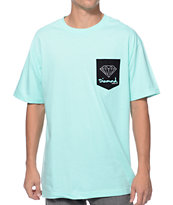 Diamond Supply Co OG Sign Diamond Blue Pocket Tee Shirt