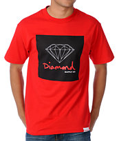 Diamond Supply Co OG Sign Red Tee Shirt