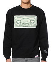 Diamond Supply Co One Love Black Crew Neck Sweatshirt