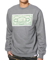 Diamond Supply Co One Love Grey Crew Neck Sweatshirt