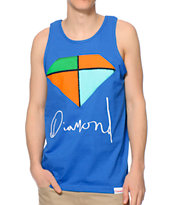Diamond Supply Co Painted Royal Blue Tank Top