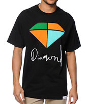 Diamond Supply Co Painted Tee Shirt