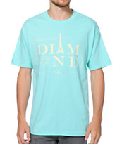 Diamond Supply Co Paris Diamond Blue Tee Shirt
