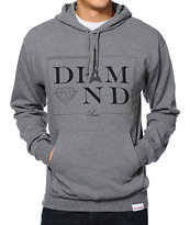 Diamond Supply Co Paris Grey Pullover Hoodie