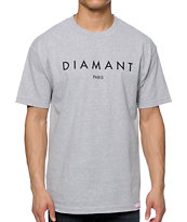 Diamond Supply Co Paris Heather Grey Tee Shirt