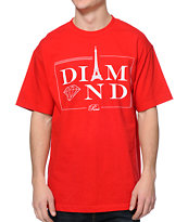 Diamond Supply Co Paris Red T-Shirt